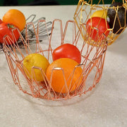 Ihrtrade Collapsible Stainless Steel Wire Basket (3 colors & 3 sizes)