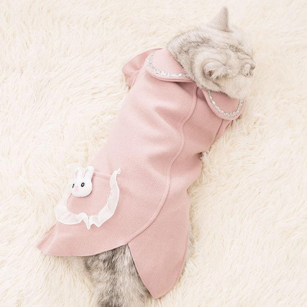 Ihrtrade Rabbit Cat Woolen Casual Coat (5 colors)