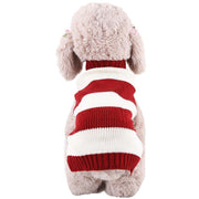 Ihrtrade Red Stripe Dog Knitting Two Legs Cloth (2 Types & 5 sizes)