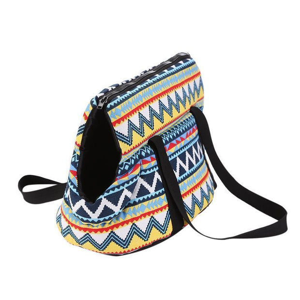 Ihrtrade Retro Pattern Oblique Opening Pet Bag (2 sizes)