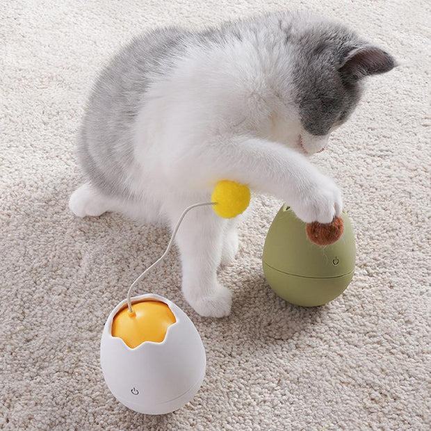 Ihrtrade Rotating Egg Shell Shape Cat Toy (3 colors)