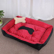 Ihrtrade Soft Short Plush Large Dog Sofa Bed (no bone pillow)  (5 colors & 5 sizes)
