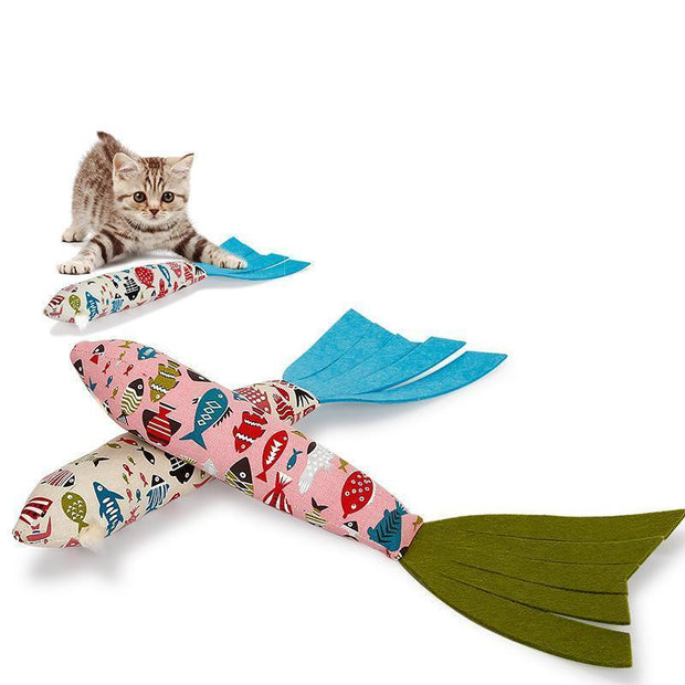 Ihrtrade Sound Paper Cat Toy Fish Shape (2 colors)