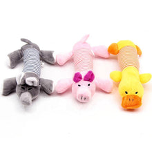 Load image into Gallery viewer, Ihrtrade Sound Toy Stripe Interactive Dog Stuffed Toy (3 Types)