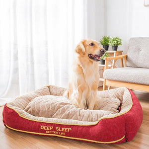 Ihrtrade Thick Thermal Large Dog Bed (2 colors & 4 sizes)