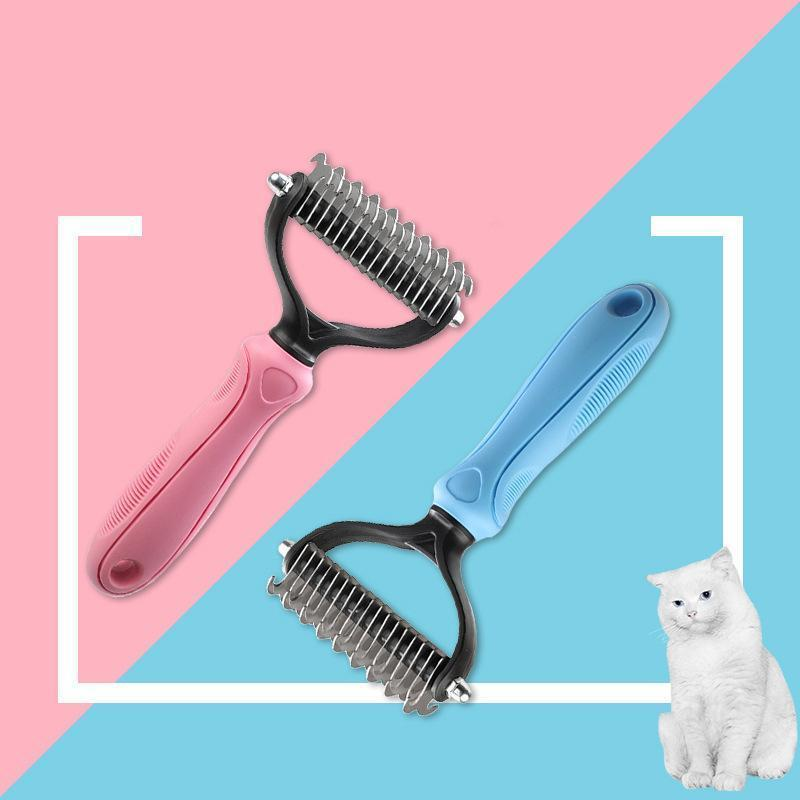Ihrtrade Two-sided Opening And Knot Comb (2 Colors & 2 Types)