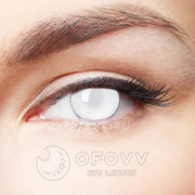 Ofovv® Cheap Prescription Blind White Special Effect Colored Contact Lenses Online Store(1 YEAR)