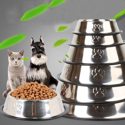 Ihrtrade Vavious Size Thick Stainless Steel Pet Bowl (6 sizes)
