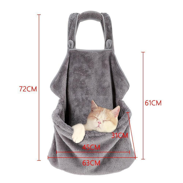 Ihrtrade Velvet Soft Cat Sleeping Apron Casual Outgoing Bag