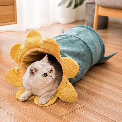 Ihrtrade Washable Corduroy Cat Toy Hideaway Tunnel (3 colors)