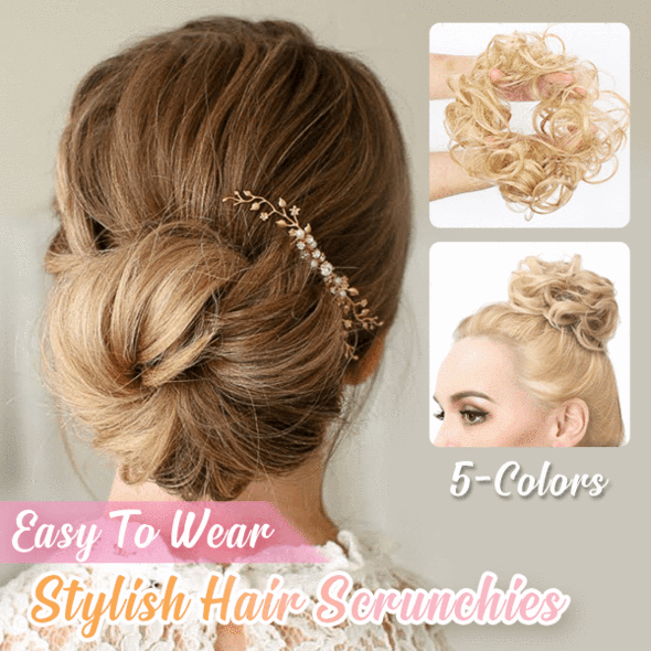 (2-Pack)Ihrtrade Easy-To-Wear Stylish Hair Scrunchies