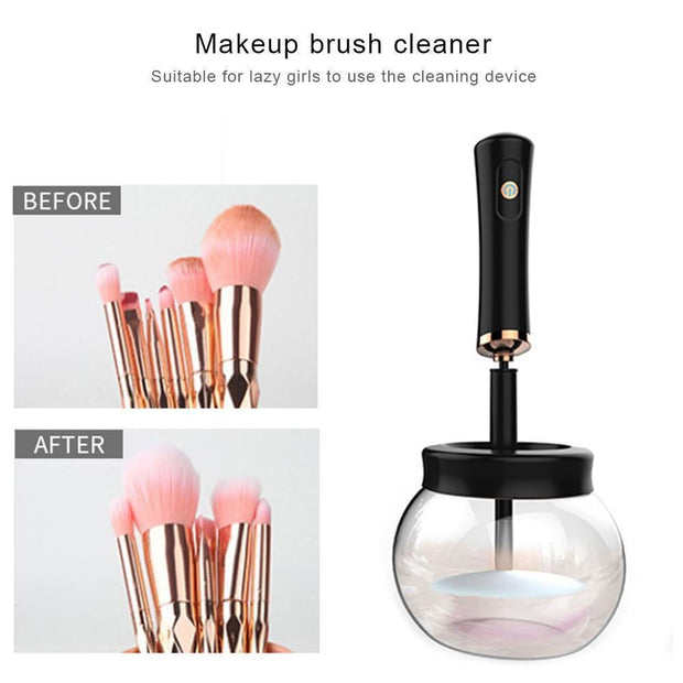 Ihrtrade Electric Makeup Brush Cleaner - Electric Makeup Brush Cleaning & Drying Tool