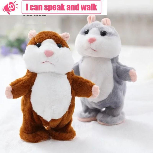 Ihrtrade Cute Walking & Talking Interactive Sound Record Hamster Plush Toy