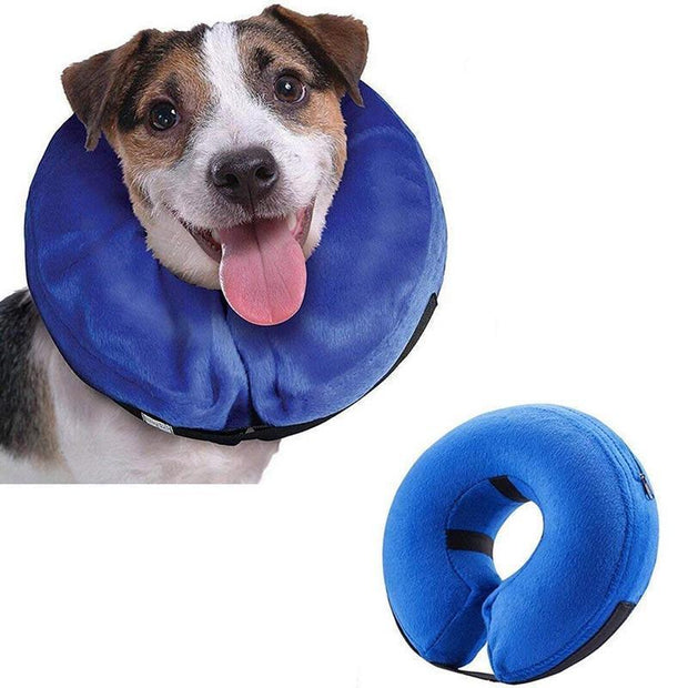Ihrtrade Dog Pet Collar Inflatable Anti-bite Injury Recovery Neck Protective Surgery Cone