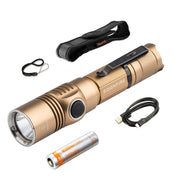 Soonfire Ultra-Bright 1050 Lumens USB Rechargeable Tactical Flashlight with 18650 Battery (DS33)
