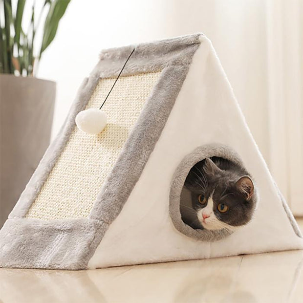 Ihrtrade Amazing Cat Tent With Ball And Scratcher (2 colors)