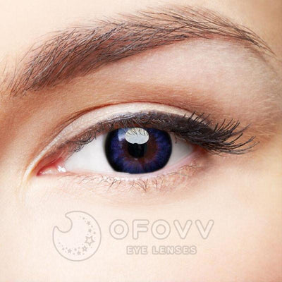 Ofovv®  Cheap Non Prescription And Prescription Blue-Purple Hazel Colored Contact Lenses Online Store (1 YEAR)