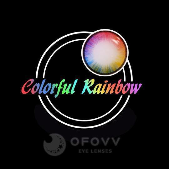 Ofovv® Cheap Prescription Colorful Rainbow Colored Contact Lenses Online Store (1 YEAR)