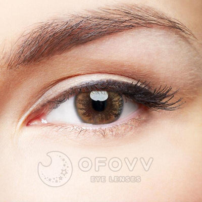 Ofovv® Cheap Prescription Ball Caramel Brown Colored Contact Lenses Online Store(1 YEAR)