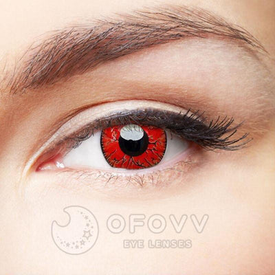 Ofovv® Cheap Prescription Dangerous Ruby Naruto Colored Contact Lenses Online Store(1 YEAR)