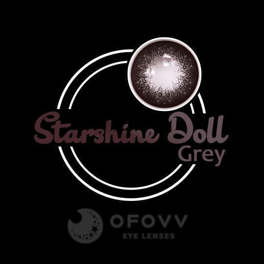 Ihrtrade Eye Circle Lens Starshine Doll Grey Colored Contact Lenses V6023(1 YEAR)