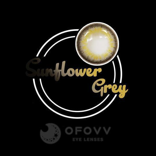 Ofovv® Eye Circle Lens Sunflower Grey Colored Contact Lenses V6025(1 YEAR)