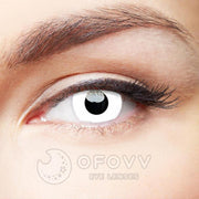 Ofovv® Eye Circle Lens Zombie Curse White Colored Contact Lenses V6031(1 YEAR)