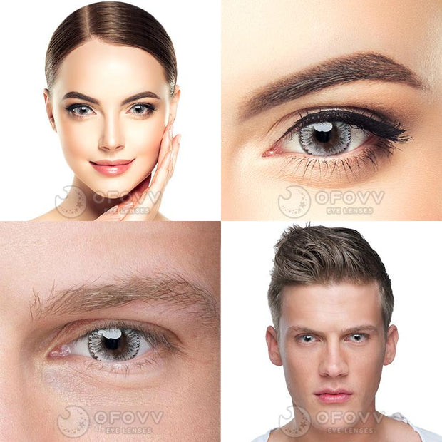 Ofovv® Cheap Prescription Dodo Grey Colored Contact Lenses Online Store(1 YEAR)
