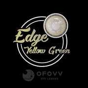 Ofovv® Cheap Prescription Edge Yellow-Green Colored Contact Lenses Online Store (1 YEAR)