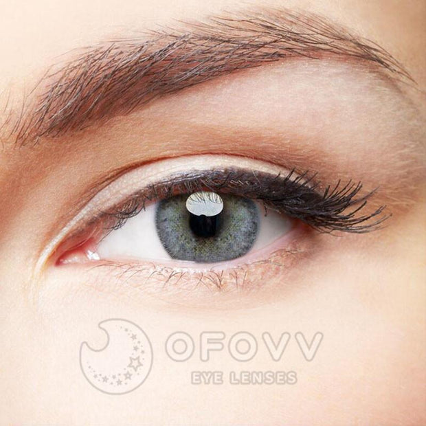 Ofovv® Cheap Prescription Euramerican Green-Grey Colored Contact Lenses Online Store(1 YEAR)