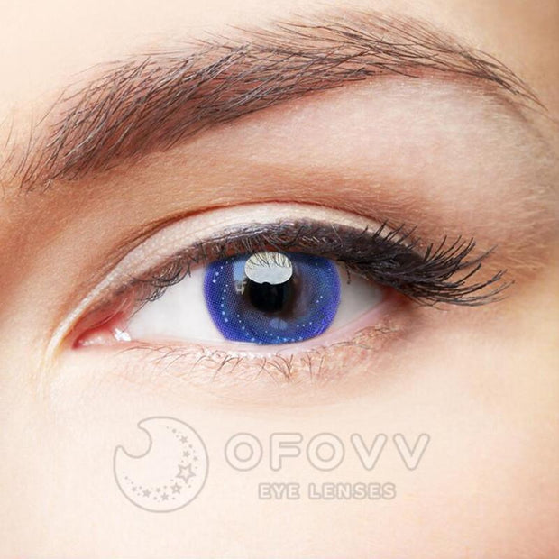 Ofovv® Cheap Prescription Crystal Ball Deep Grey Colored Contact Lenses Online Store (1 YEAR)