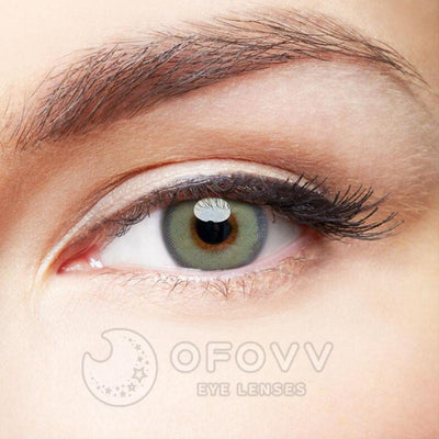 Ofovv® Cheap Prescription Gaea Grey Colored Contact Lenses Online Store(1 YEAR)