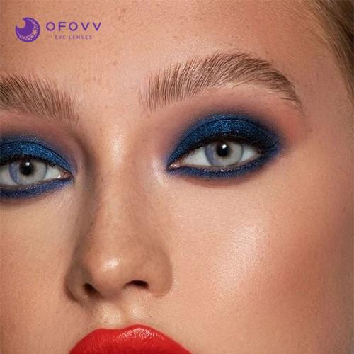 Ofovv® Cheap Prescription Galaxy Grey Toric Colored Contact Lenses Online Store(1 YEAR)