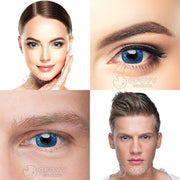 Ofovv® Cheap Prescription Gradient Star Blue Naruto Colored Contact Lenses Online Store(1 YEAR)