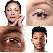 Ofovv® Cheap Prescription Gradient Star Brown Colored Contact Lenses Online Store(1 YEAR)