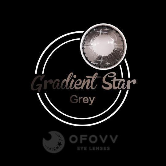 Ofovv® Cheap Prescription Gradient Star Grey Colored Contact Lenses Online Store(1 YEAR)
