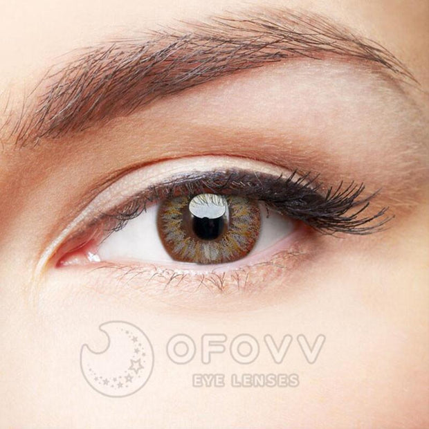Ofovv® Eye Circle Lens Lily Grey Colored Contact Lenses V6080(1 YEAR)