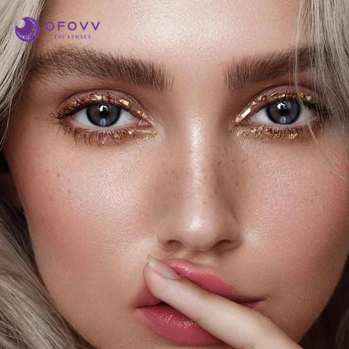 Ofovv® Eye Circle Lens Moonlight Grey Colored Contact Lenses V6092(1 YEAR)
