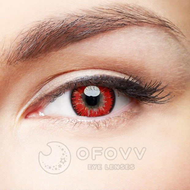 Ihrtrade Eye Circle Lens Mystery Red Naruto Colored Contact Lenses V6097(1 YEAR)