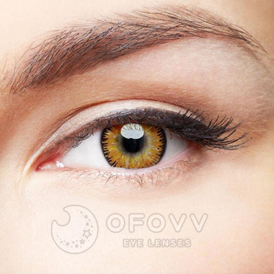 Ofovv® Eye Circle Lens Mystery Yellow Colored Contact Lenses V6098(1 YEAR)