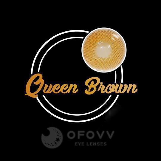 Ofovv® Eye Circle Lens Queen Brown Colored Contact Lenses V6115(1 YEAR)