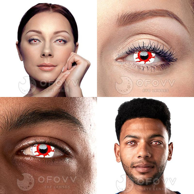 Ofovv® Cheap Prescription Vampire Colored Contact Lenses Online Store(1 YEAR)
