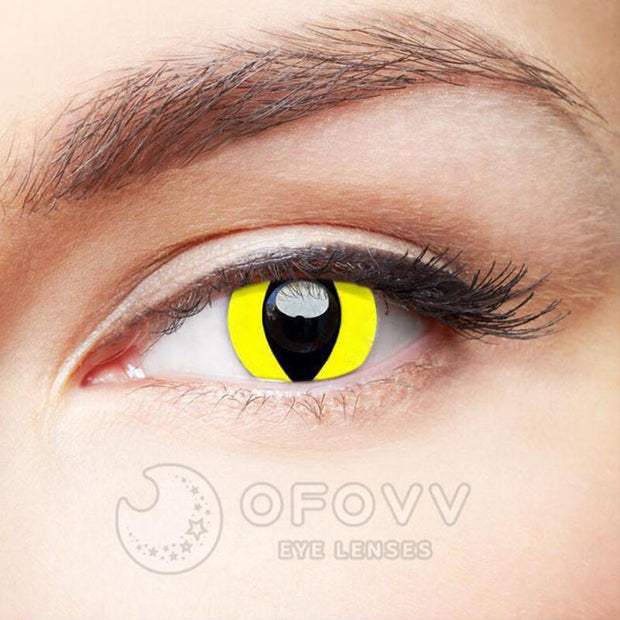 Ofovv® Cheap Prescription Reptile Glow Colored Contact Lenses Online Store(1 YEAR)