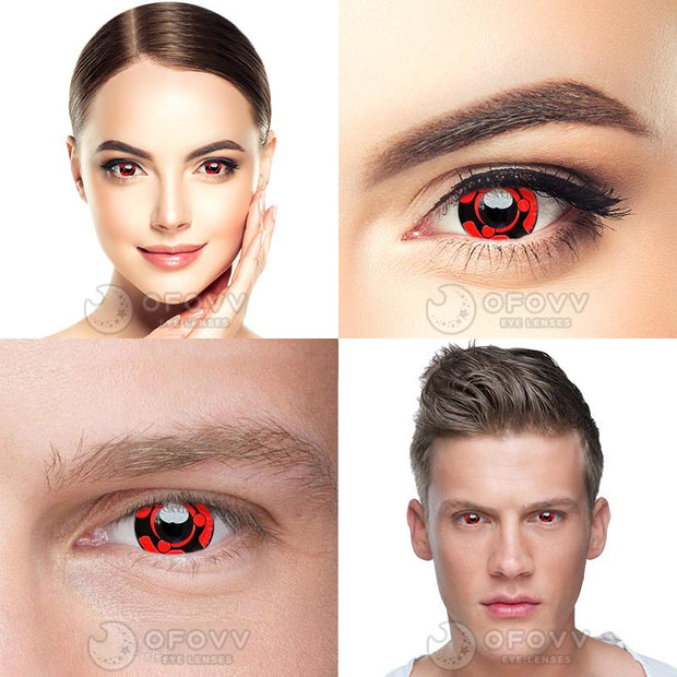 Ofovv® Cheap Prescription Sharingan Madara Naruto Colored Contact Lenses Online Store(1 YEAR)