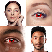 Ofovv® Cheap Prescription Sharingan Magatama Naruto Colored Contact Lenses Online Store(1 YEAR)