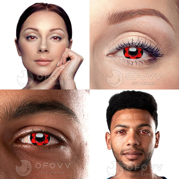 Ofovv® Cheap Prescription Sharingan Sasuke Naruto Colored Contact Lenses Online Store(1 YEAR)