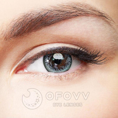 Ofovv® Eye Circle Lens Silver Angel Wing Colored Contact Lenses V6130(1 YEAR)