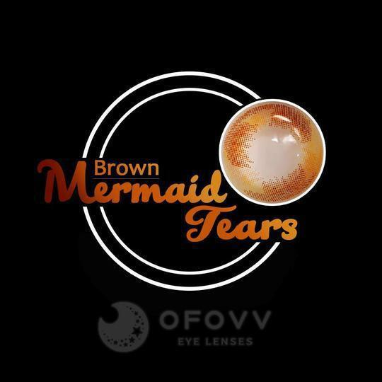 Ofovv® Eye Circle Lens Mermaid Tears Brown Colored Contact Lenses V6134(1 YEAR)