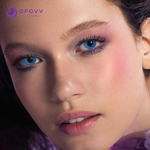 Ofovv® Cheap Prescription Pure Blue Colored Contact Lenses Online Store(1 YEAR)