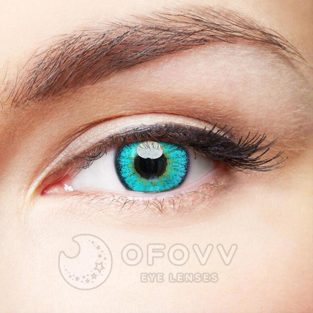 Ofovv® Cheap Prescription Elf Green Naruto Colored Contact Lenses Online Store(1 YEAR)